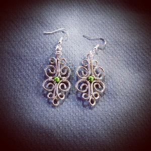 Argentium Sterling silver Filigree Drop earrings