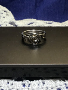 Solid silver Whirlpool ring