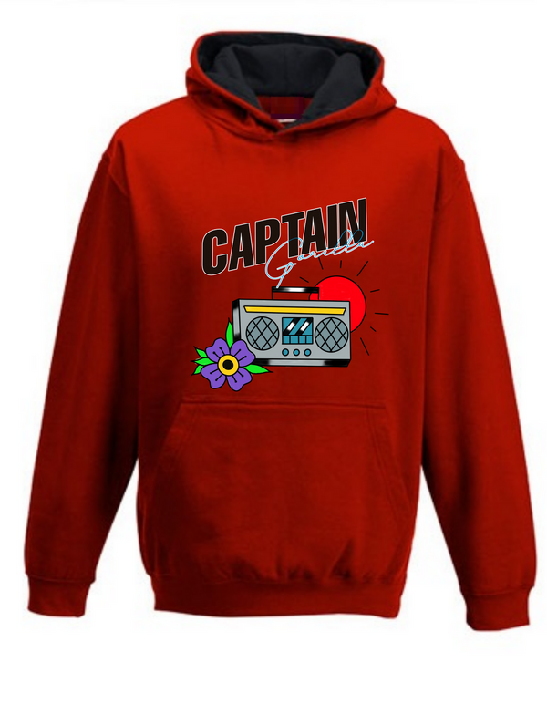 """Tuning in on Old School"" 2-Tone Kids Hoodie"