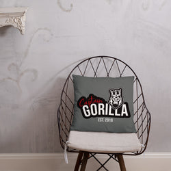 captain-gorilla - Captain Gorilla 'EST 2019 red-white'  Pillow - Captain Gorilla -