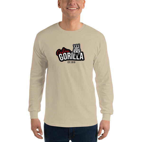 captain-gorilla,'Est 2019 Black' Long Sleeve Shirt,Captain Gorilla,men classic's shirt