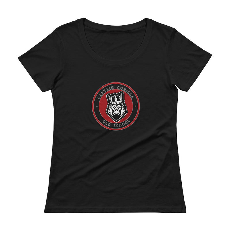 captain-gorilla,'New Style'  Scoopneck Shirt,Captain Gorilla,woman shirt