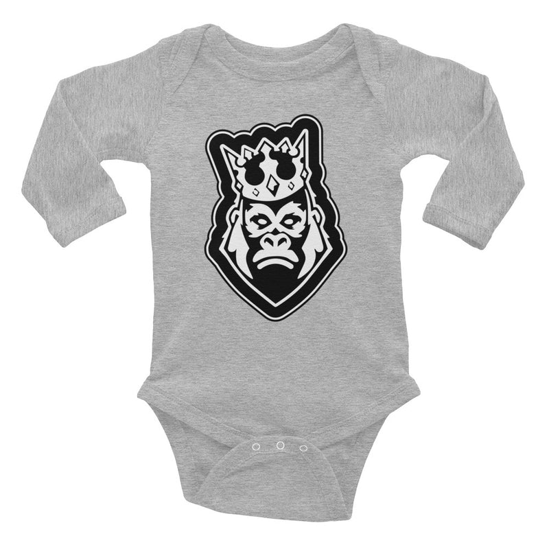 captain-gorilla,'Single Head' Infant Long Sleeve Bodysuit,Captain Gorilla,baby classic's bodysuit