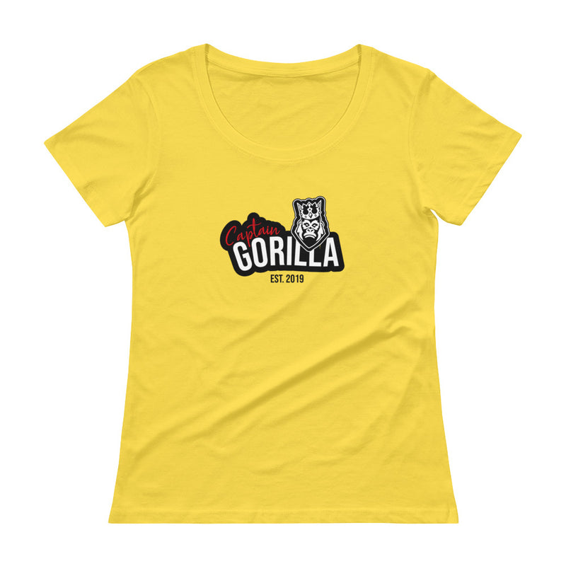 captain-gorilla,'Est 2019'  Scoopneck Shirt,Captain Gorilla,woman streetwear shirt