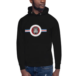 captain-gorilla,'Striped Head' Big Strings Hoodie,Captain Gorilla,men classic's hoodie