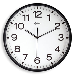 CEP 12' Clock,White Face/Black Rim