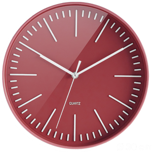 "CEP 12"" Trendy Clock - Orchard Apple Red"