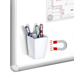 Whiteboard Marker Cup Magnetic White