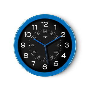 CEP 12' Clock, Black Face/Blue Rim