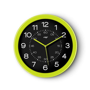 CEP 12' Clock, Black Face/Green Rim