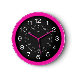 CEP 12' Clock, Black Face/Pink Rim