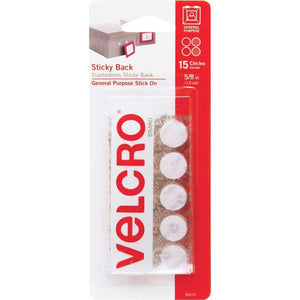 Velcro-5/8' dots-15 sets/pack white