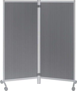 Paperflow Mobile Partition Silver