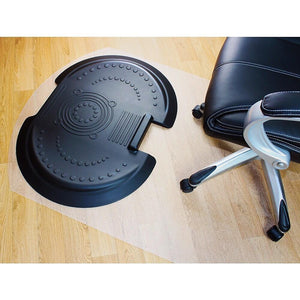 Floortex Poly Chairmat Sit and Stand w/System 5000 (Hard Floors)