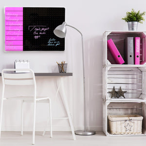 "Viztex | Glacier Magnetic Glass Dry Erase Board | Size 14"" x 14"" 