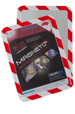 Magneto Magnetic back Frame Red/Wht