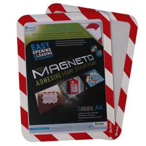 Magneto Self-Adhesive Frame Red/Wht