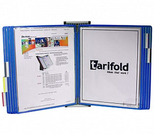 Tarifold Wall Display with 5 pockets Blue
