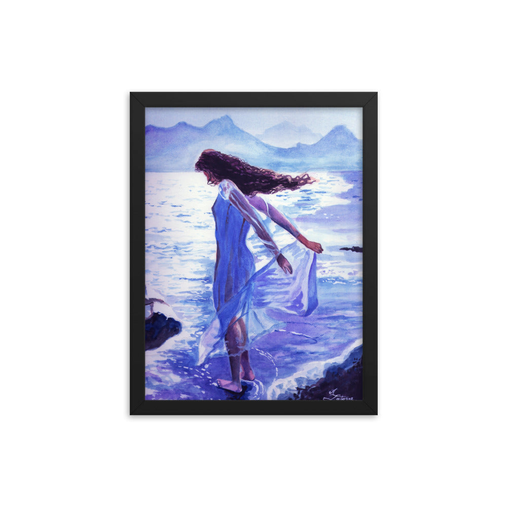 Seascape, ocean view, watercolors, fine art collections.