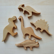 Load image into Gallery viewer, Handmade Wooden Dinosaurs Puzzle (5 Piece)