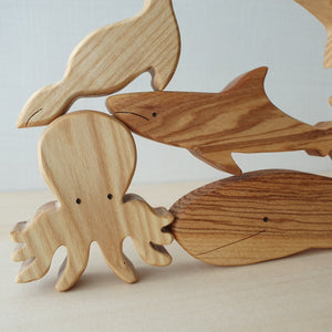 Handmade Wooden Sea Animals Puzzle (6 Piece)