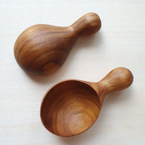 Wooden Spoon With Knob Handle