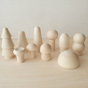 Natural Mushroom Forest (10 Pieces)