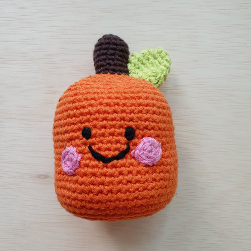 Handmade Orange Rattle