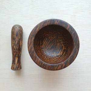Wooden Pestle and Mortar (Small)