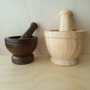 Wooden Pestle and Mortar