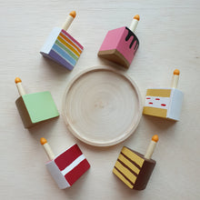Load image into Gallery viewer, Little Yellow Brick x CraftedbyLarissa - Wooden Cake With Candles