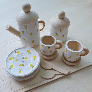 Little Yellow Brick x CraftedbyLarissa - Wooden Tea Set With Tray