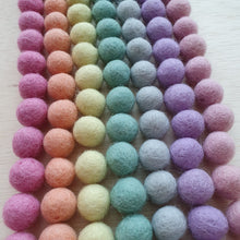 Load image into Gallery viewer, Felt Balls (1.5cm) - Pastel Rainbow (105 pieces)