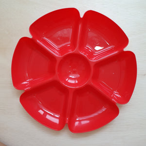 Red Flower Tray