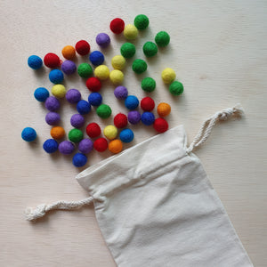 Felt Balls (1.5cm) - Rainbow (105 pieces)