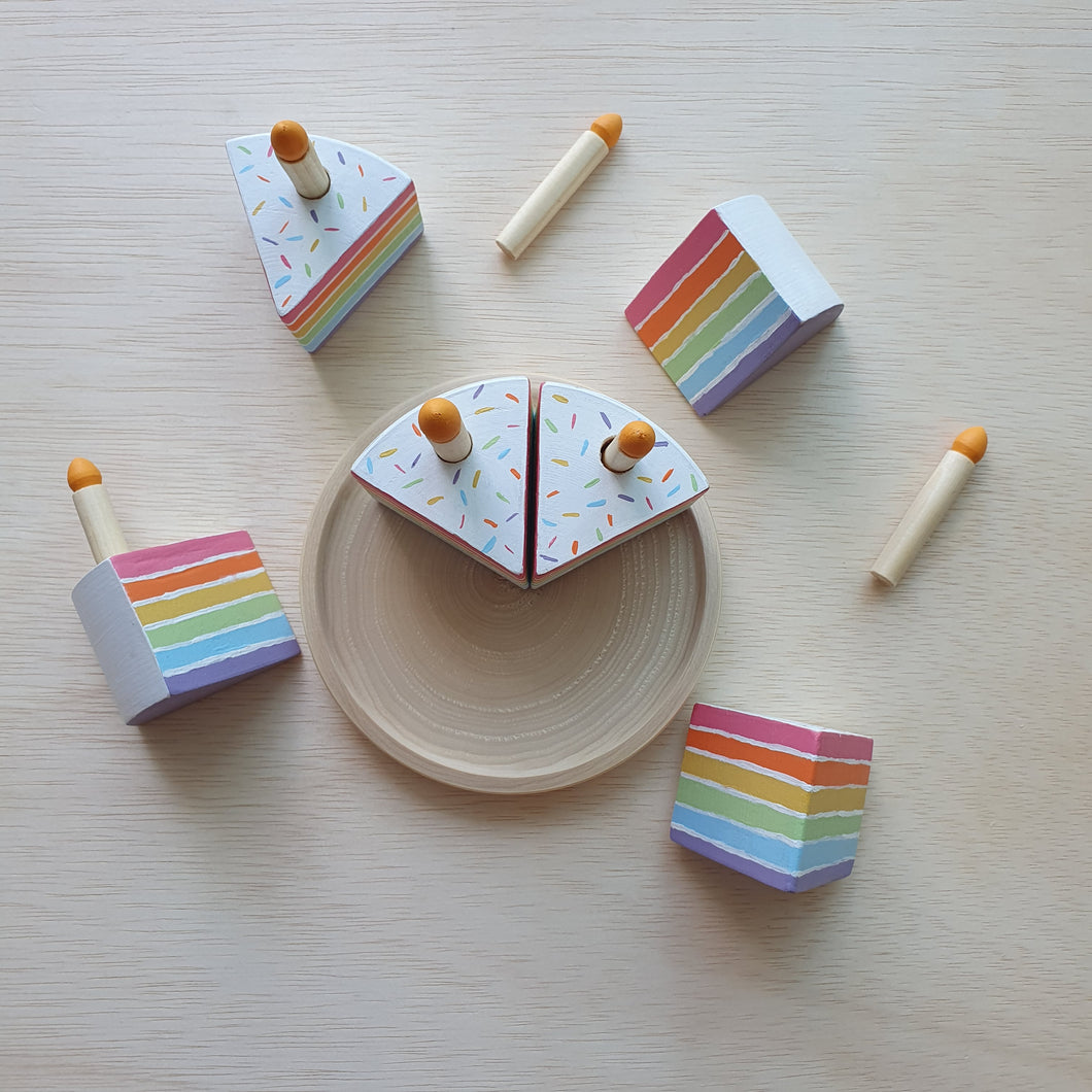 Little Yellow Brick x CraftedbyLarissa - Rainbow Cake With Candles