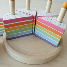 Load image into Gallery viewer, Little Yellow Brick x CraftedbyLarissa - Rainbow Cake With Candles