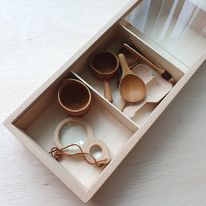 Wooden Tray With Compartments
