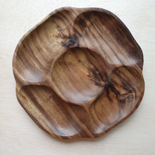 Load image into Gallery viewer, Wooden Tray - 5 Section Acacia (24cm)