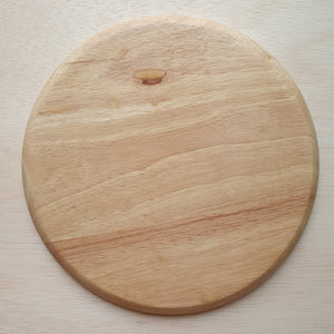 Wooden Tray - 5 Section Rubberwood Circle (28cm)