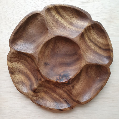 Wooden Tray - 7 Section Acacia (26cm)
