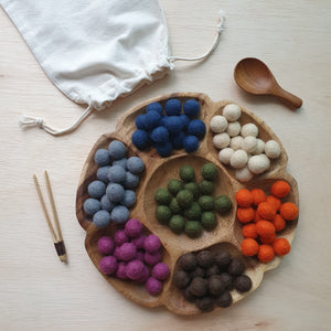 Felt Balls (1.5cm) - Earth (105 pieces)