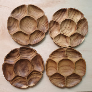 Wooden Tray - 5 Section Acacia (24cm)