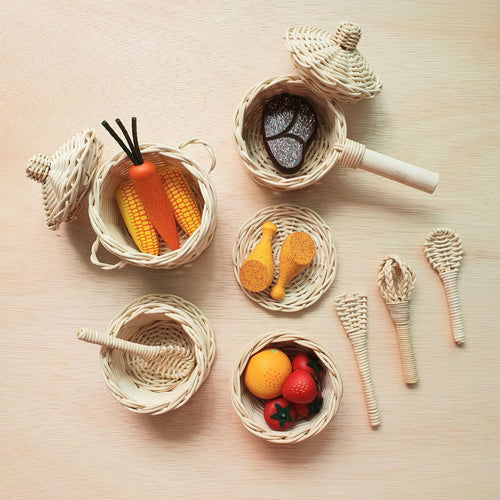By Little Yellow Brick - Rattan Kitchen Pot Set