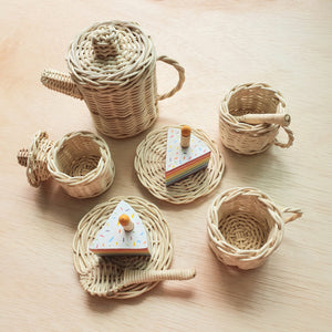 By Little Yellow Brick - Rattan Teapot Set