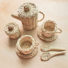 Load image into Gallery viewer, By Little Yellow Brick - Rattan Teapot Set