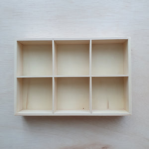 Tinker Tray - 6 Section Rectangle