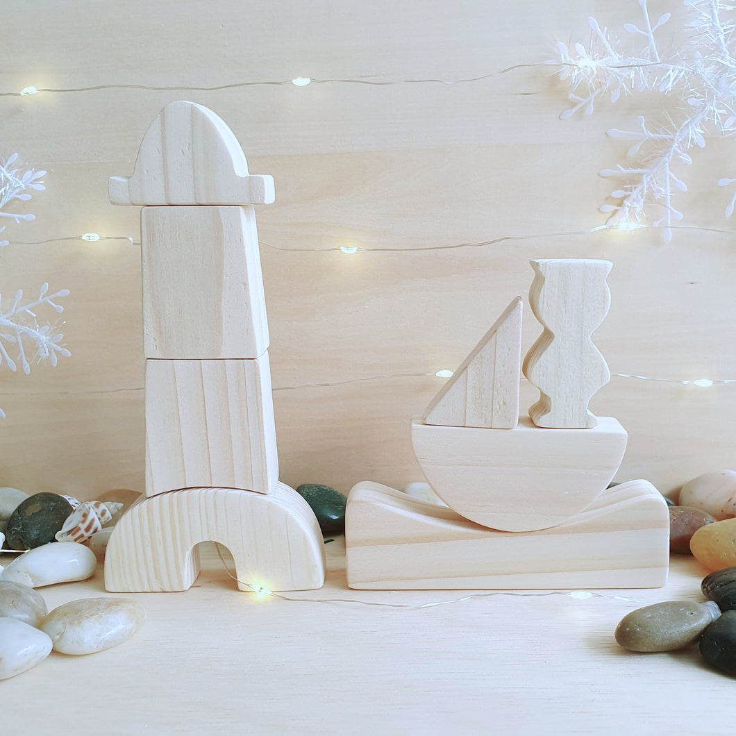 By Little Yellow Brick - Lighthouse and Boat