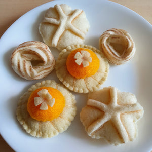Felt Sweet Treats - Goodies To Go (Pineapple Tarts, Kueh Bangkit, Butter Cookies)