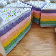 Load image into Gallery viewer, Felt Sweet Treats - Pastel Rainbow Cake Slice